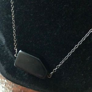 Express Jewelry - Express Black and Gray Long Necklace